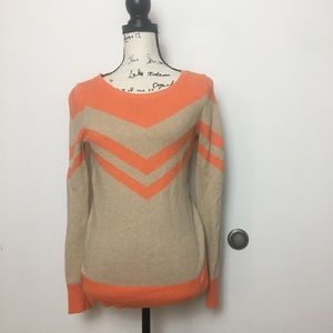 C WONDER Orange Chevron Sweater